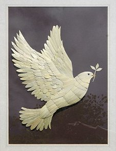 A dove in marquetry