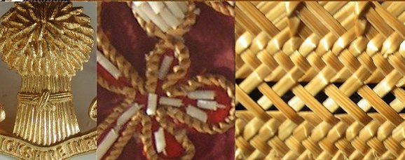 Collage of Straw work